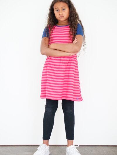 b.chic. Short sleeve girl dress made of 100% organic cotton