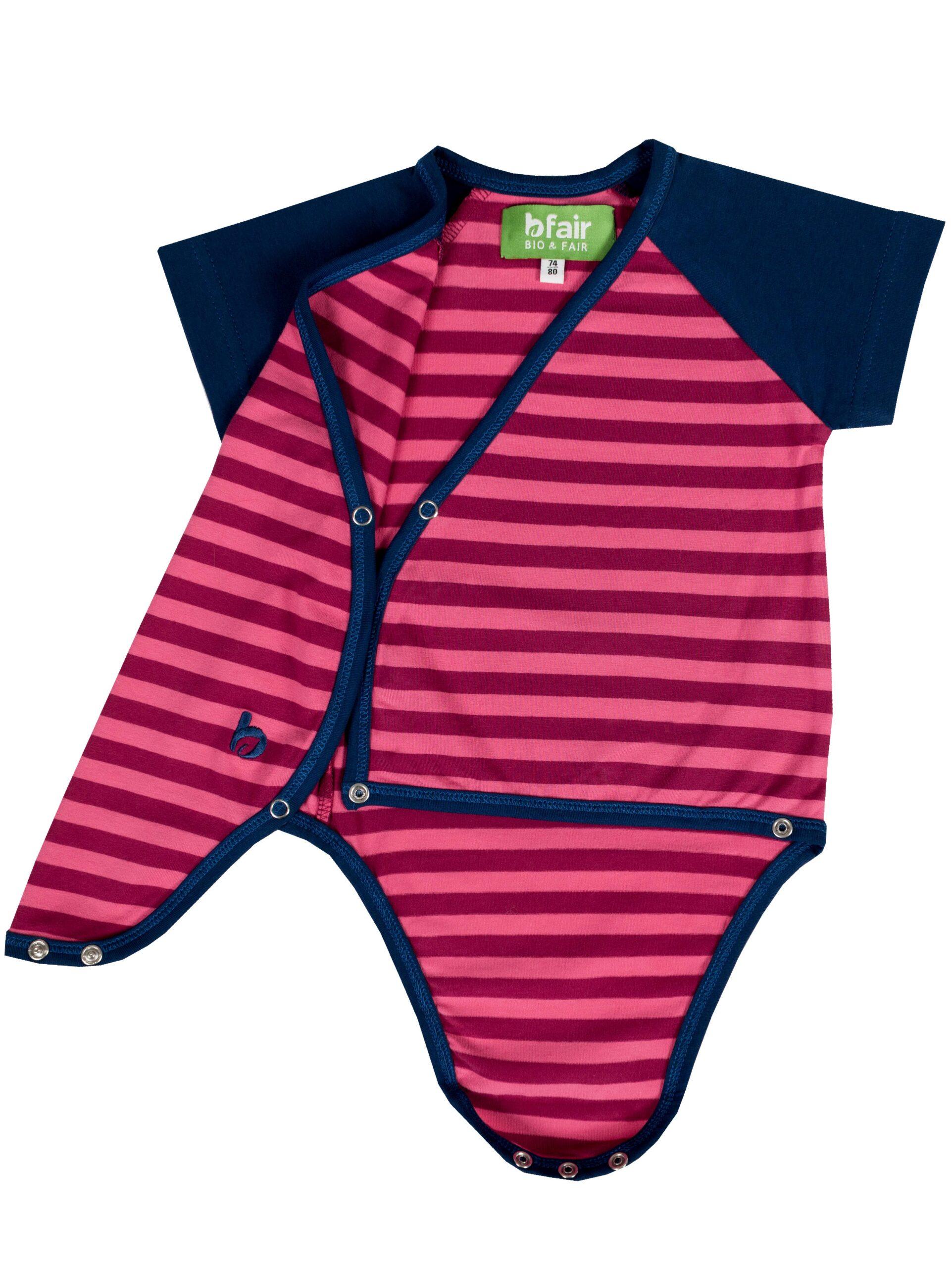 b.confi. Kurzarm Baby-Body aus 100% Bio-Baumwolle