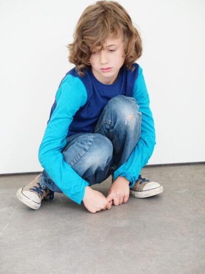 b.protected. Kinder Langarmshirt aus 100% Bio-Baumwolle