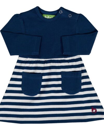 b. classy. Langarm Baby-Kleid aus 100% Bio-Baumwolle
