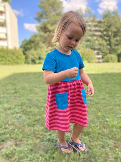 b.chic. Kurzarm Baby Freizeitkleid aus 100% Bio-Baumwolle