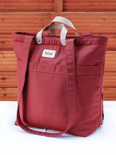 Red earth: Bag made of organic cotton, made in Zurich