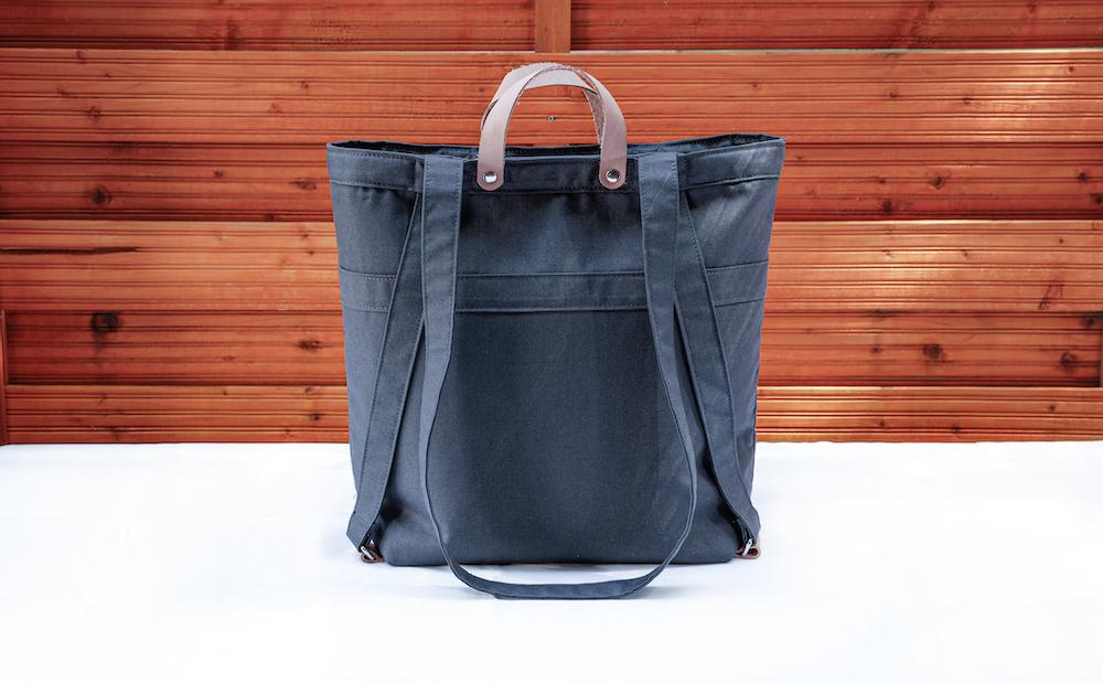Multifunction bag by bfair made of 100 organic cotton. Grey bag