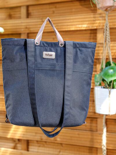 Anthrazit: Tasche aus Bio-Baumwolle, made in Zürich