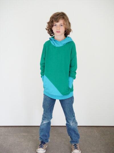 Kinder-Hoodie aus 100% Bio-Baumwolle. Forest