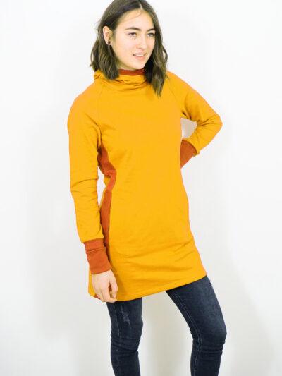 Damen Sweatkleid aus 100% Bio-Baumwolle. Desert