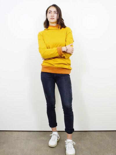 Damen Hoodie aus 100% Bio-Baumwolle. Desert