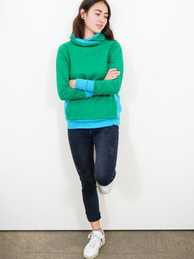 Damen Hoodie aus 100% Bio-Baumwolle. Forest