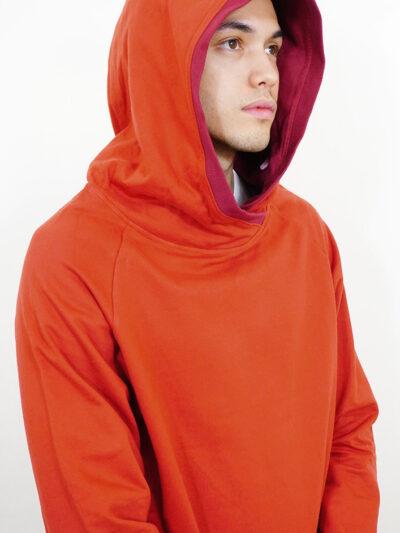 Herren Hoodie aus 100% Bio-Baumwolle. Red Earth