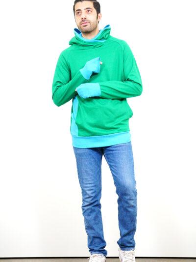 Herren Hoodie aus 100% Bio-Baumwolle. Forest