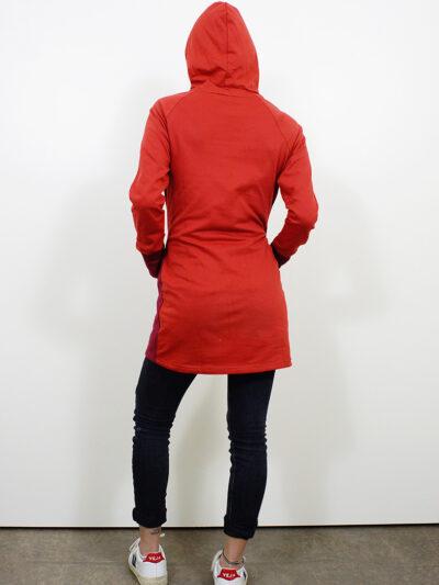 Damen Sweatkleid aus 100% Bio-Baumwolle. Red Earth